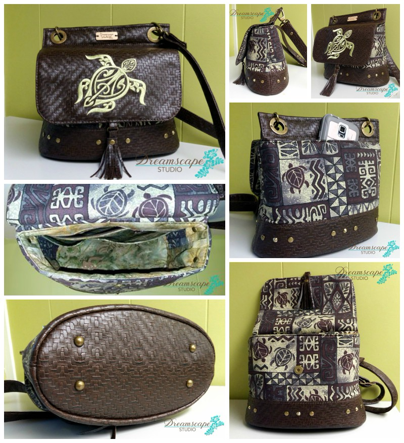 Sue's Podium Collage - A ChrisW Designs Intermediate Bag Sewing Pattern