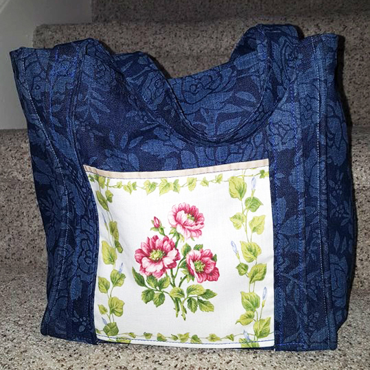 Vickie's I'd Rather Be Sewing Grocery Tote