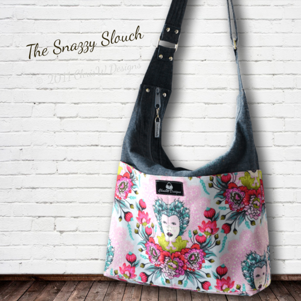 Snazzy Slouch PDF Bag Sewing Pattern by ChrisW Designs