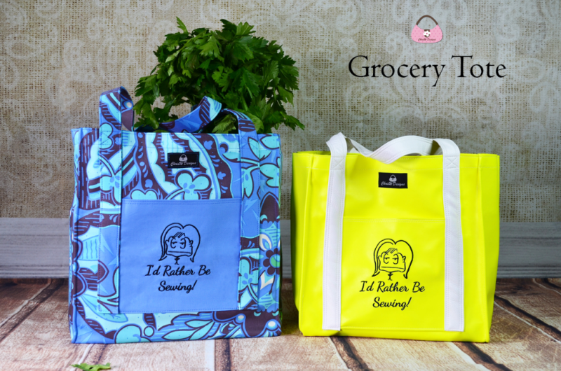 The I'd Rather Be Sewing Grocery Tote by ChrisW designs