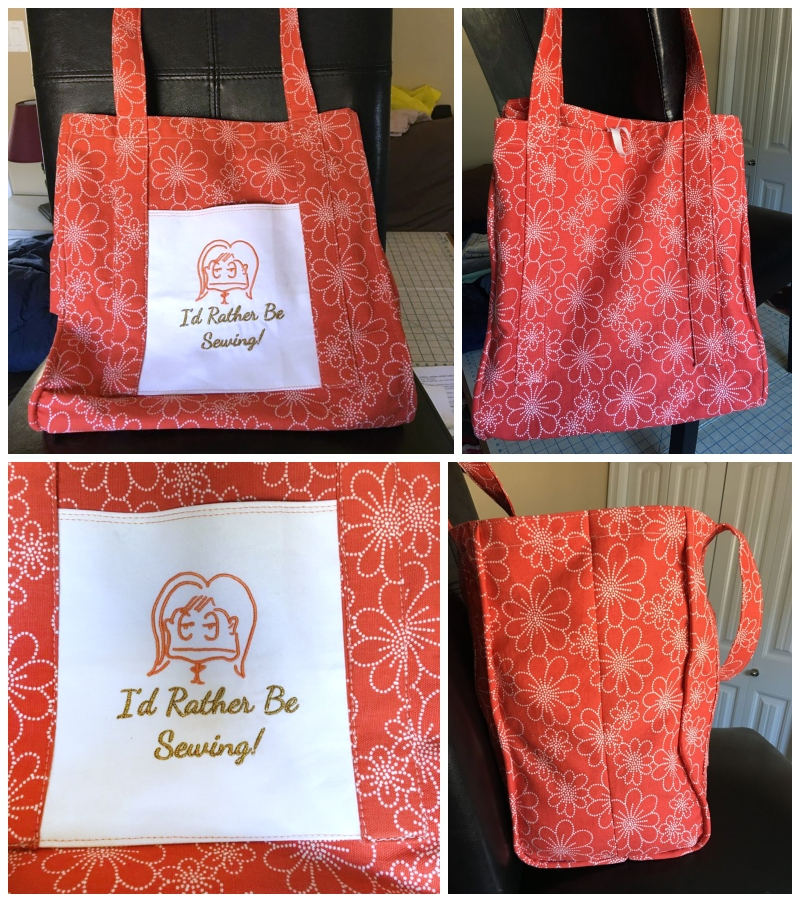 Sheila's I'd Rather Be Sewing Grocery Tote
